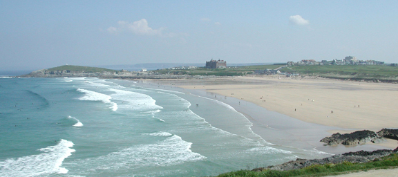 Fistral Beach from Pentire